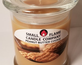 Handcrafted Peanut Butter Cookie Scented Soy Candle from Small Flame Candle Company