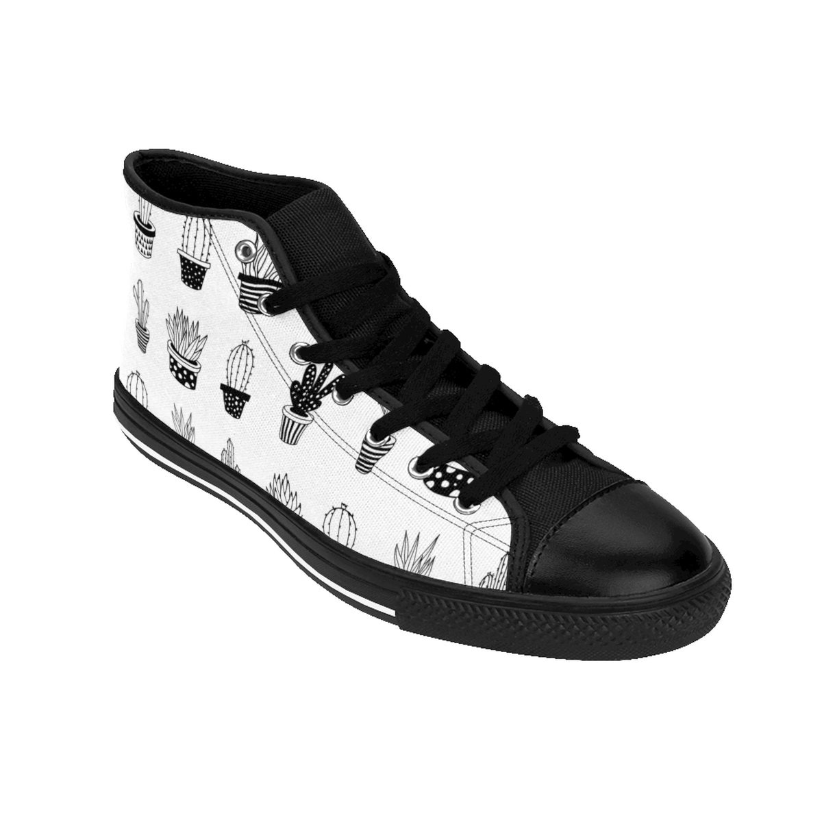 BW Cactus WoHommes S HighTop baskets chaussures femme Cool chaussures chaussures chaussures cadeau pour femme cadeau de Noël pour femme NoirBlanc Cactus chaussures b60cb0