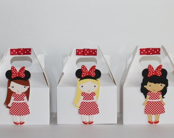 Minnie Red Favor Boxes