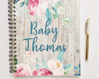 Personalized Pregnancy journal, expecting mom gift, maternity diary, pregnancy tracker, pregnancy planner, countdown to baby, gift for her