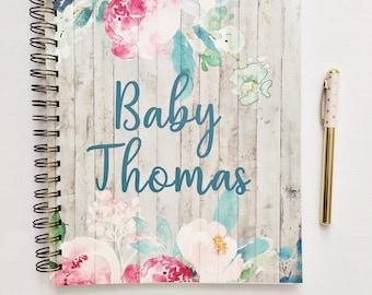 Journal de grossesse personnalisé, attend le cadeau de maman, maternité Agenda, tracker de la grossesse, planificateur de grossesse, compte à rebours pour bébé, cadeau pour elle