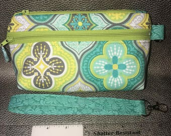Essential Wristlet Pouch ~ Medallions or Butterflies ~ Double Zip