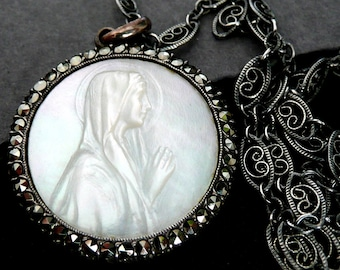 Sterling Silver Virgin Mary Necklace