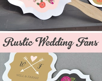 Rustic Wedding Fan Favors Wedding Fans Wedding Hand Fans Outdoor Wedding Decor Rustic Wedding Decor Rustic Wedding Favors (EB2354TZ) 24| pcs