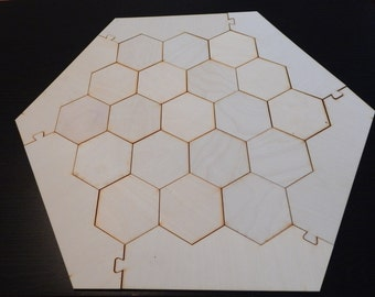 """Settlers of Catan Board - Laser Cut 1/8"""" Birch Plywood - Awesome Gamer Gift!"""