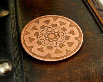 Copper steampunk brooch, steampunk badge, steampunk jewellery, copper jewellery, steampunk jewellery, steampunk gift, cogs jewellery