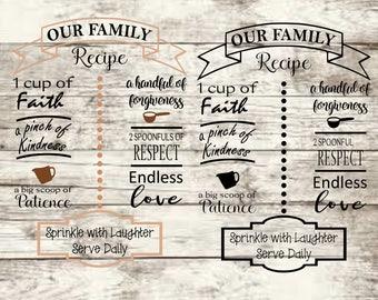Family Recipe SVG