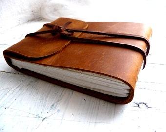 Leather Sketchbook. Leather Journal. Landscape Journal