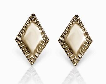 Diamond Sunburst Studs - Gold Stud Earrings - Gold Studs - Gold Earring Studs - Post Earrings - Bridesmaid Earrings -Gold  Bridal Earrings