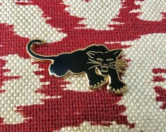 Black Panther Lapel Pin - Hard Enamel