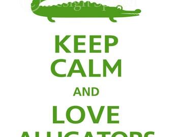 Keep Calm and LOVE ALLIGATORS Vinyl Wall Decal KC-105