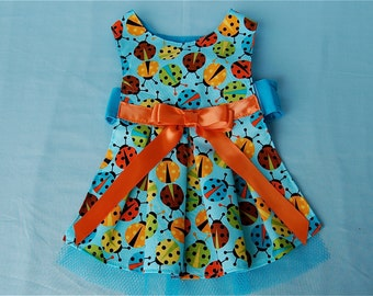 Little Ladybug Dog Dress for Dogs and Puppies