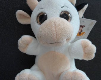 Adorable little cow with big eyes for your decorations