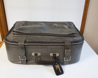 Vintage Luggage by J & AR, Finland - Black and gray suitcase