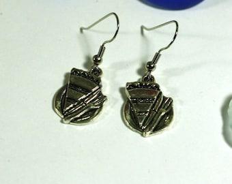 Silver Pie Charm Earrings - Fun Fashion Accessories - Thanksgiving Pie Jewelry