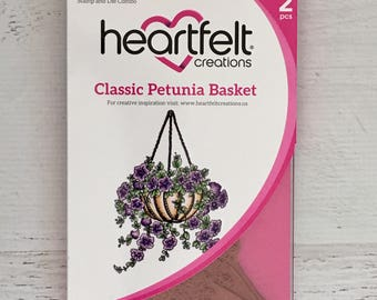 Heartfelt Creations Classic Petunia stamp & die combo set, card making, paper crafting, scrapbooking, mixed media, art journling, limited ed