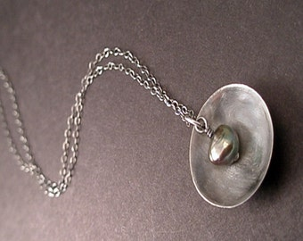 Madison Necklace - Pearl and Sterling Silver