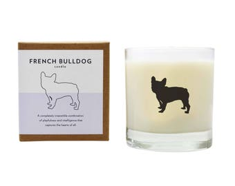 French Bulldog Soy Candle Soy Candle French Bulldog Candle Hostess Gift Frenchie Dog Candle Pet Loss The Original Scripted Fragrance Candle