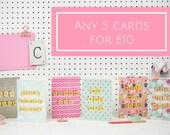 Greetings Card Bundle, 5 ...