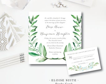 Eloise Printed Wedding Invitations | Printed by Darby Cards Collective