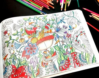 5 IMAGES,Color,Coloring Book,Printable Adult Coloring Book Page,Digital Illustration,LineArt Instant Download Printable Book,colored, prints