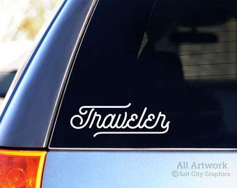 Traveler - Decal for Traveler, Travel Sticker, Vinyl Sticker, Vinyl Decal, Window Decal, Car Decal, Laptop Decal, Bumper Sticker