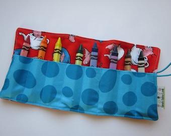 JUMBO TODDLER Crayon Roll, Dr. Suess, Holds 8 Jumbo Toddler or Triangular Crayons