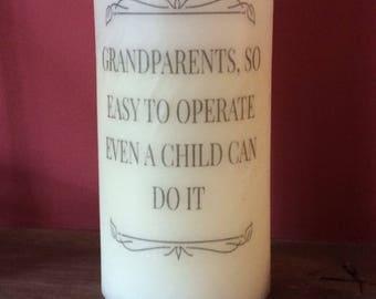 LED candle grandparent quote