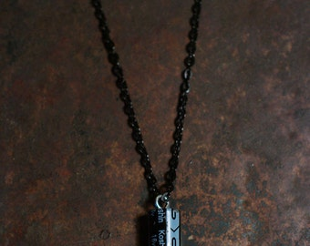 Black Capacitor Necklace - Steampunk, Electrician Gift, Nerdy, Geeky, Electronics, Gift for Man, Gift for Boyfriend