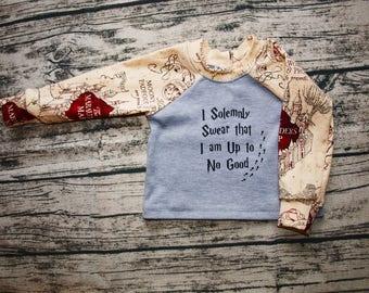 Harry Potter Baby   Harry Potter Shirt   Harry Potter Gift   Baby Shower Gift   Potterhead   Marauder's Map   Gryffindor   Hogwarts