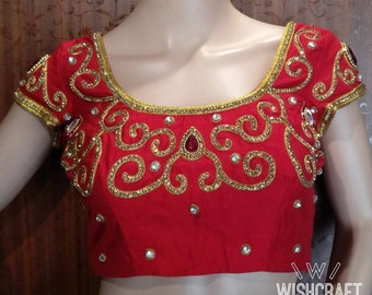 Indian Saree Blouse with exotic embroidery