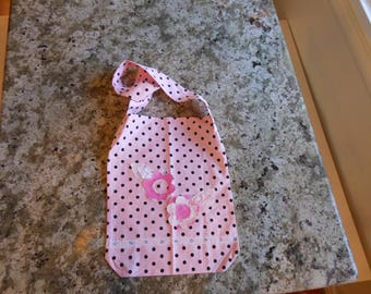 Couture Shabby Chic style pink poke Dot messenger bag