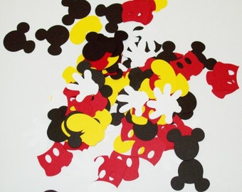 Mickey Mouse Confetti/ Birthday/ Table Decoraitng/ Party Supplies/ 100 Pieces