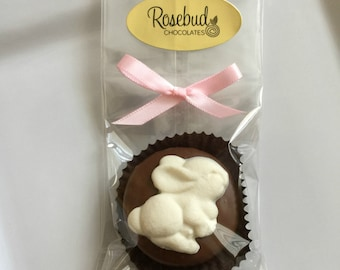 12 Chocolate White Bunny Rabbit Oreo Cookie Favors Easter Spring Animals Candy