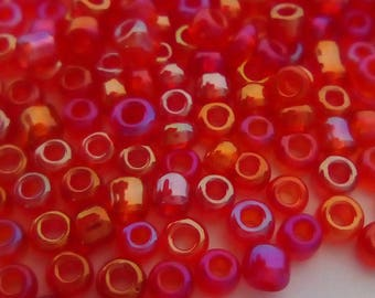 10g 12/0 transparent red round seed bead