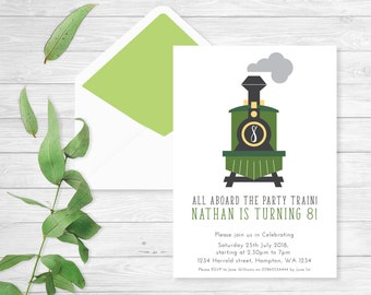 Train birthday invite |Train birthday Invitations |Printable Invitation | Party Invite | CHOO CHOO | Party train invitation | Birthday party