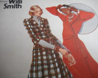 Vintage 1970's Butterick 3235 YOUNG DESIGNER Willi Smith Wrap Dress Sewing Pattern Size 7 Bust 31 or Size 9 Bust 32
