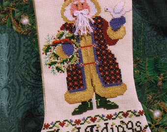 Janlynn #93-333, counted cross stitch kit, Good Tidings Stocking by Sandy Cozzolino, unopened cross stitch kit, Christmas,cross stitch, gift