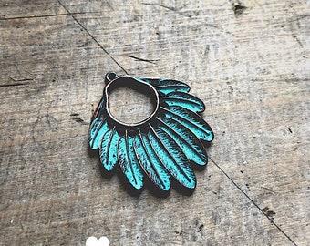 Aqua Patina Headdress - DIY Jewelry