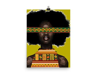 Yellow Fro Poster
