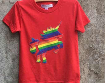 Rainbow Unicorn Shirt for Girls and Boys - Sizes for Toddlers, Children, Kids - Great Birthday Gift - Fun Top for Parties and Photo Shoots