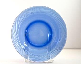 Vintage Pyrex Blue Festiva Soup Bowls 7 1/2 inches