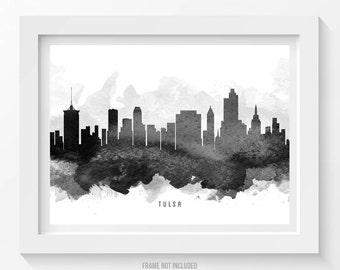 Tulsa Oklahoma Skyline, Tulsa Cityscape, Tulsa Print, Tulsa Art, Tulsa Decor, Home Decor, Gift Idea 11