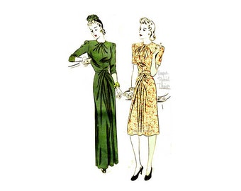 1940s Dress Pattern Vogue Special Design S-4274, Draped Skirt & Bodice, Size 12 Bust 30, Vintage Evening Gown Sewing Pattern