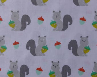 1/2 Yard Cotton Quilting Fabric - Michael Miller Hank and Clementine, Clementine Grey