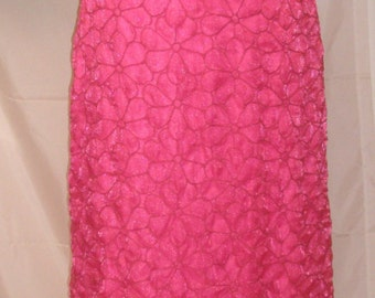 "Gorgeous Hot Pink Embroidered Evening Gown-Tocca-Prom-Party-Wedding Attire-Size 4-Small-36"" Bust-Red Carpet-Hollywood"