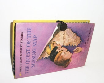 Book Purse Nancy Drew Quest of the Missing Map Vintage Book Clutch handbag