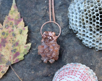Electroformed Aragonite Necklace