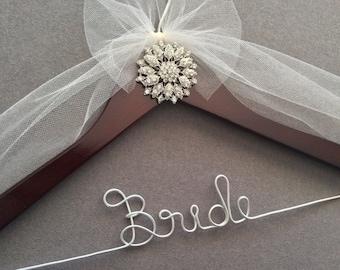 Vintage Look Jeweled Bridal Hanger, Personalized Wedding Dress Hanger,  Bridal Shower,