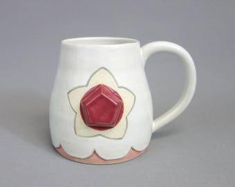 Quartz rose Mug: Cristal bijou inspiré Steven univers une tasse de café en céramique
